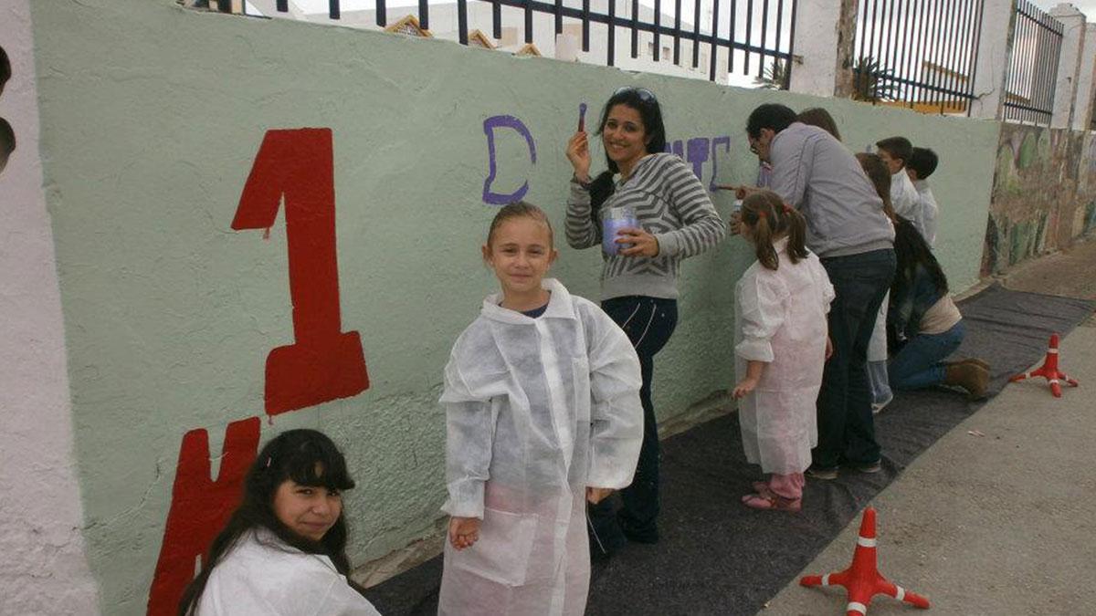 Actividad con los niños en el día internacional del trabajador