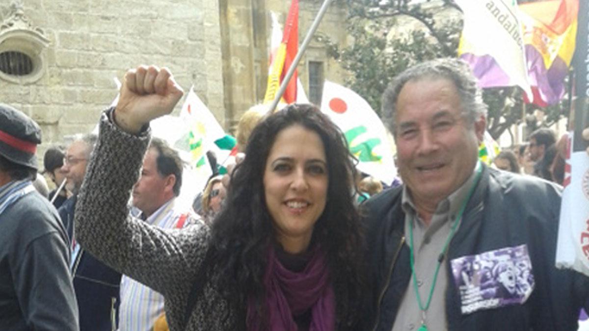 Con mi compañero Antonio Pérez. Todo un ejemplo.